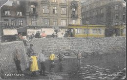 KOBENHAVN OSTERBROGADE ENFANTS CHILDS ANIMEE CPA PUBICITE ANTONI BIERN FR. BERENDT BREVKORT VOYAGEE 1907 A BUENOS AIRES - Danemark