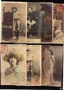 STAGE ACTRESS CINEMA SARAH BERNHARDT LOT OF 8 Ca1900 POSTCARDS REAL PHOTO RPPC - Photographs