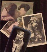 LOVE ROMANTIC WOMAN KISS LESBIAN LOT OF 12 POSTCARDS VICTORIAN REAL PHOTO RPPC - Fotografie