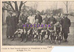 Paris 1908 Rugby Stade Français 14x10cm Bien Lire La Description Read The Description - Vieux Papiers