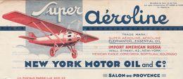 Belle Facture Couleur 1935 / Huile Aéroline / Aviation / Usine De La Ferrage / 13 Salon De Provence BDR - Other