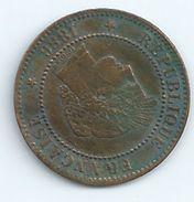 2 Centimes Ceres 1886 TTB France Port 0,75 - France
