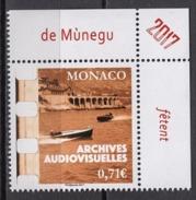 MONACO 2017  -Y.T. N° 3105 ( LES ARCHIVES AUDIOVISUELLES ) - NEUF ** - Monaco