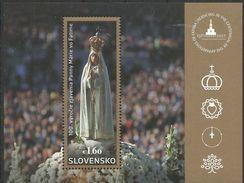 SK 2017-03 JOINT WHIT LUXEMBUR -MADONA DI FATIME, SLOVAKIA, S/S, MNH - Gemeinschaftsausgaben