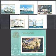 2998 ✅ Art Painting Ships Birds Ocean Maritime 1970 Sealand 5v+S/s Set MNH ** Imperf Imp - Marítimo