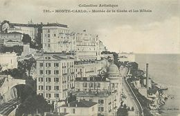 A-17- 8428 : MONTE CARLO. LES HOTELS DE LA MONTEE DE LA COSTA. COLLECTION ARTISTIQUE  GILLETA - Monte-Carlo
