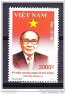 Vietnam Viet Nam MNH Stamp 2012 : 100th Birth Anniversary Of Vo Chi Cong (Ms1028) - Vietnam