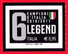 Italia Repubblica 2017 Juventus Legend Juve Campionato Di Calcio Scudetto € 0,95 MNH** Integro - 2011-...:  Nuovi