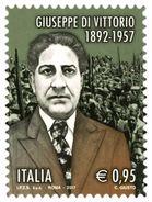 Italia Repubblica 2017 Giuseppe Di Vittorio Nel 60° Anniversario Della Scomparsa  € 0,95 MNH** Integro - 2011-...:  Nuovi