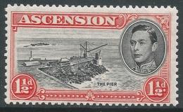 Ascension. 1938-53 KGVI. 1½d MH P13. SG 41a - Ascension
