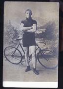 CYCLISTE  SUR PISTE  RUSSE OU POLONAIS  CARTE  PHOTO  1918 - Allemagne