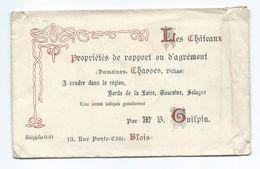 ENVELOPPE PUBLICITAIRE 19??.. M. BAZIN, Château De CHAMBORD Par SAINT DIE Sur LOIRE (41)..Les Châteaux à Vendre Dans La - 1900 – 1949