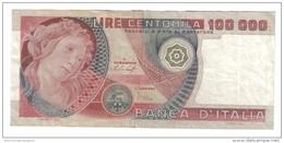 100000 Lire Primavera Di Botticelli 20 06 1978 Bb+  Lotto 1036 - [ 2] 1946-… : Républic