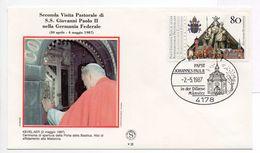 - DEUTSCHE BUNDESPOST - Lettre VISITA PASTORALE DI S.S. GIOVANNI PAOLO II (Jean-Paul 2) KEVELAER 2.5.1987 - - Papi