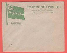 ESPERANTO Vicenza Busta Gruppo Esperantista Vicentino - Organizations