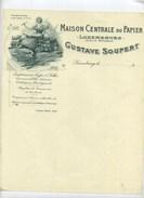 LUXEMBOURG : Maison Centrale Du Papier : Gustave Soupert : Imprimerie Typo & Litho - Lussemburgo
