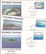 Polynésie Française  171 173 1/4 De Cote 1981 FDC Iles Polynésiennes TB Cote Timbres Oblit 5.4 - FDC