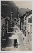 GLARUS → Kirchstrasse Mit Kutsche Und Passanten , Ca.1930 - GL Glaris