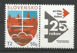 SK 2017-09 25 ART FILM FEST KOŠICE, SLOVAKIA, 1 X 1v+Label, MNH - Ungebraucht