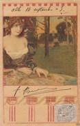 ART NOUVEAU Jeune Femme - Illustrateur Raphael Tuck Série 163  - Pli Haut Droit Griffure Oeil - Tuck, Raphael
