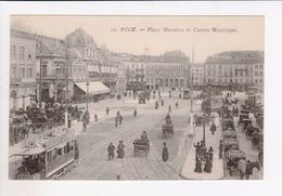 1 Cpa Carte Postale Ancienne - Nice Place Massena Et Casino Municipal 50 - Andere