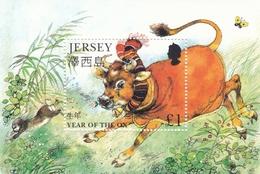Jersey,  1997, 764 Block 14, Jahr Des Ochsen, Year Of The Ox, MNH ** - Jersey