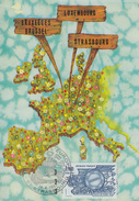 Carte Maximum  1er  Jour   Traité  De  ROME    EUROPA   STRASBOURG   1982 - Cartes-Maximum