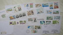 TAAF  Lot De 13 Lettre En Partance Du Marin-de-Vives-ST-Paul-AMS  Des Années 1989-1992  Oblitéré - Tierras Australes Y Antárticas Francesas (TAAF)
