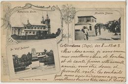 Gruss Lome  German Togo Dr Wolf Denkmal, Katholische Kirche , Misahohe Strasse Edit Davies  Timbrée Ouidah Benin 1903 - Togo