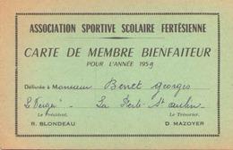 Carte De Membre Bienfaiteur Association Sportive 1959 à La Ferté-Saint-Aubin - Unclassified