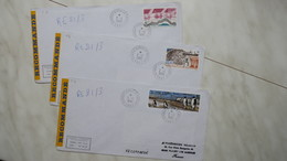 TAAF  Lot De 3 Lettre Recommandé En Partance De Dumont-D'Urville-T.Adelie De L' Année 1992 Oblitéré Pour La France - Tierras Australes Y Antárticas Francesas (TAAF)
