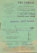 Carte Pro Familia De 1938 à La Ferté-Saint-Aubin - Unclassified