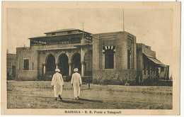 Massaua R.R. Poste E Telegrafi  Edit Scozzi Attilio Beltrami Asmara - Erythrée