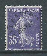 FRANCE 1922/47 . Préoblitéré N° 62 Sans Gomme . - 1893-1947
