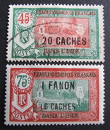 LOT R3586/909 - 1927 - COLONIES FR. - INDE - N°79 à 80 NEUF*/☉ - India (1892-1954)