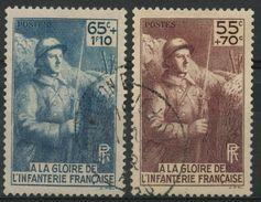 France (1938) N 386 à 387 (o) - France