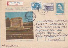 MILITARIA, ECATERINA TEODOROIU MONUMENT, REGISTERED COVER STATIONERY, ENTIER POSTAL, 1993, ROMANIA - Militaria