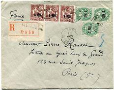 ALEXANDRIE LETTRE RECOMMANDEE DEPART ALEXANDRIE 30 NOV 23 POUR LA FRANCE - Lettres & Documents