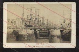 LE HAVRE (SEINE-MARITIME) - VOILIERS AU BASSIN DE LA BARRE ET L'AVANT-PORT - PHOTOGRAPHIE 19EME - Anciennes (Av. 1900)