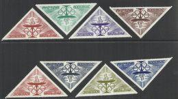 JORDAN KINGDOM GIORDANIA 1964 OLYMPIC GAMES TOKYO GIOCHI OLIMPICI OLIMPIADE SERIE COMPLETA COMPLETE SET MNH - Giordania