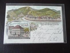 Gruss Aus Weisenbach Litho 1899 Mit Gasthaus & Weinhandlung Rastatt - Rastatt