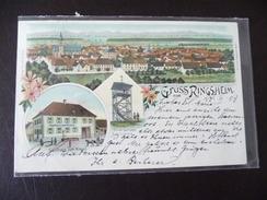 Gruss Aus Ringsheim Litho Mit Gasthaus 1903 - Freiburg I. Br.