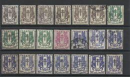 FRANCE - LOT DE 21 TIMBRES OBLITERES POUR ETUDE - Colecciones Completas