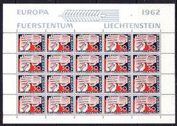 Europa Cept 1962 Liechtenstein 1v Sheetlet ** Mnh (CO341) - 1962