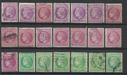 FRANCE - LOT DE 21 TIMBRES OBLITERES POUR ETUDE - Collections