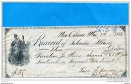 U S A-NEW ORLEANS-1898-Lettre De Change Illustrée 3 Dollars - Bills Of Exchange