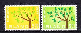 Europa Cept 1962 Iceland  2v ** Mnh (CO342) - 1962