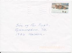 Norway Cover Sent To Halden 14-12-2009 Single Stamped - Norwegen