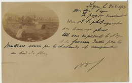 Segou Carte Photo 1903 Faisceaux Dressés Par Les Tirailleurs Et Fleuve Niger - Mali