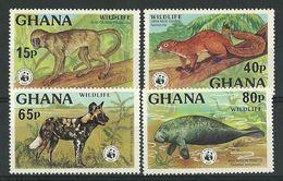 WWF  GHANA  1977  SET  MNH - W.W.F.